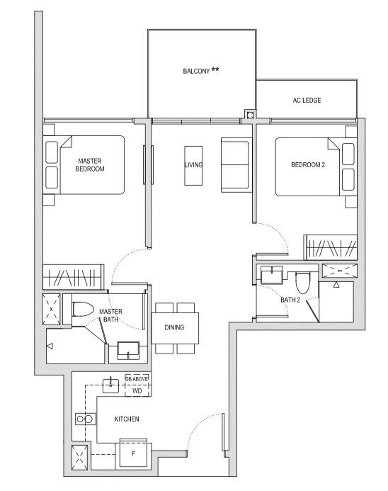 Affinity At Seragoon 2-Bedroom Premium BP1