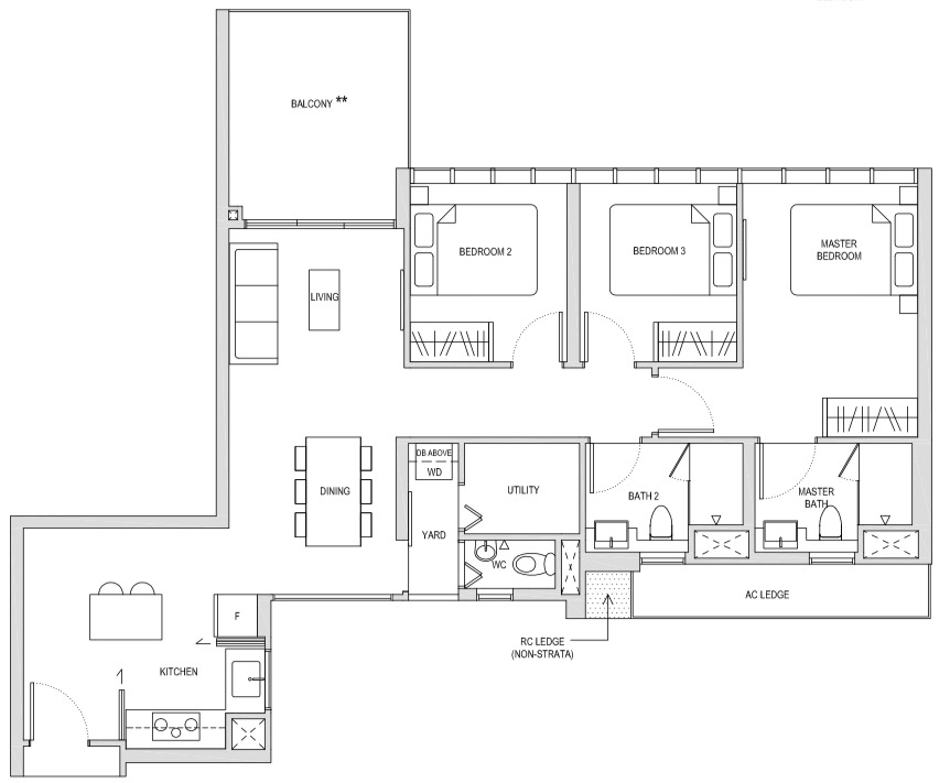 Affinity At Seragoon 3-Bedroom Deluxe CD1