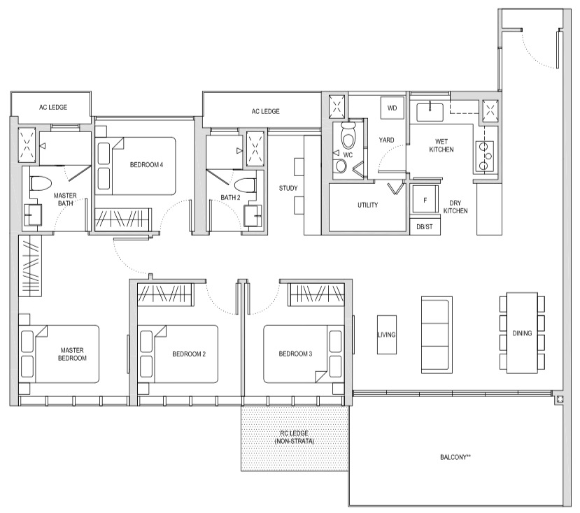 Affinity At Seragoon 4-Bedroom Study DS1