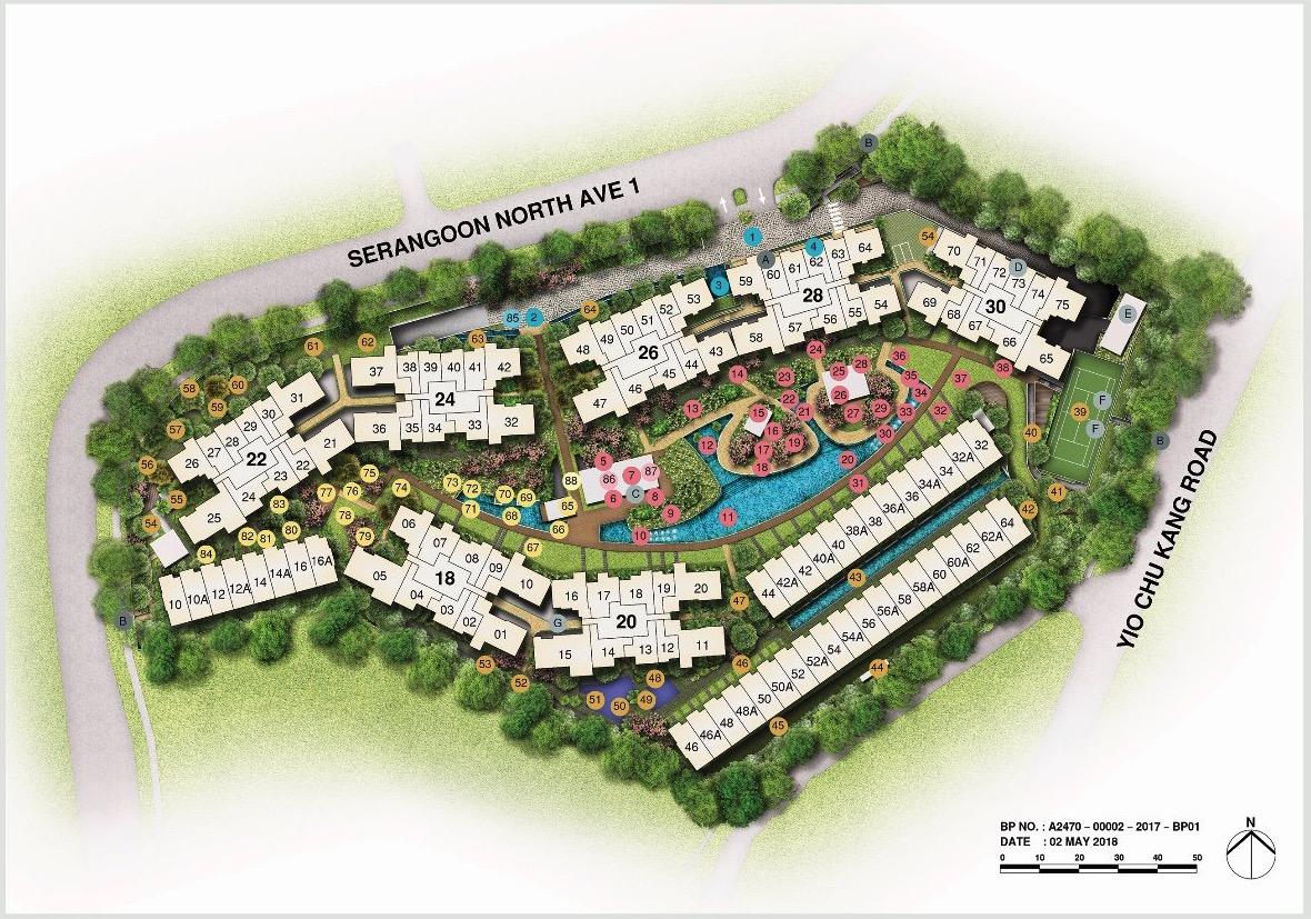 Affinity At Serangoon Siteplan and Facilities